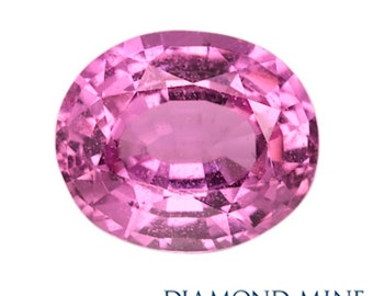 A Beautiful NaturalSapphire 1.05 Pink Oval AA