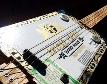 Funguy Mojo Fun Box Acoustic Electric Four String Cigar Box Guitar
