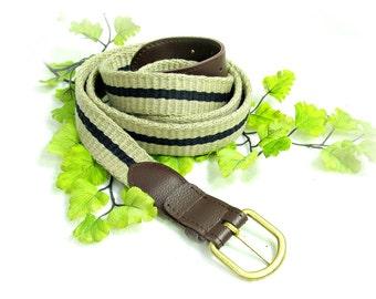 Tan belt. ,men's woven belt , men's belt, ,men's skinny belt, size 42 to 44 ,  # B 3