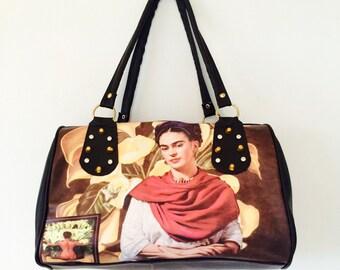 One off Frida Kahlo portrait bag