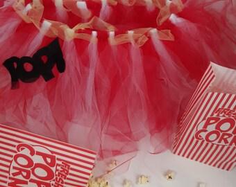 Adult Popcorn Tutu, Red and White Stripe Tutu, Circus Tutu, Carnival Tutu, Popcorn Costume, Circus Costume, Popcorn Halloween Costume, Prop