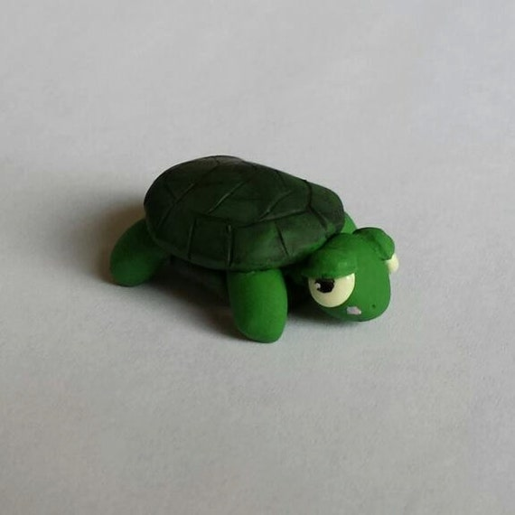 Mini turtle sculpture by SquamatArt on Etsy