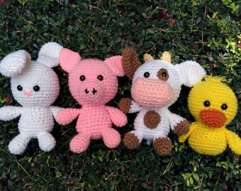 Crochet Farm Animals - Single or Set