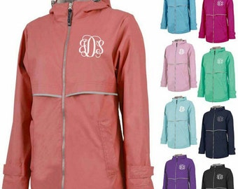 FREE SHIPPING! Charles River Rain Jacket Personalized Bridesmaids Gifts Adult Sizes Monogrammed
