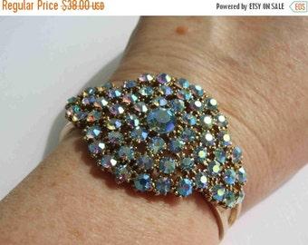 20% OFF Blue Aurora Borealis Clamper Bracelet