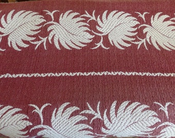 Vintage Drapery Panel. 1940's Woven Drapery Fabric