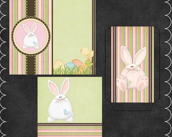 Egg Hunting Pink Candy Card