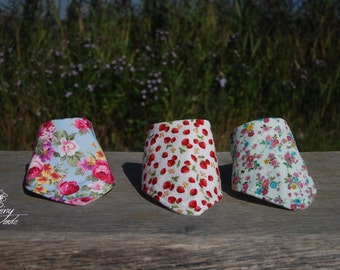 Dribble Bib Various Patterns floral, butterfly, strawberry!