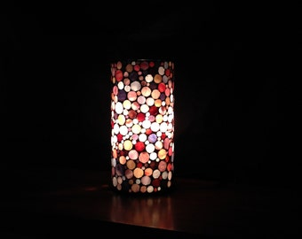Sold. Lamp in shades of pink and purple
