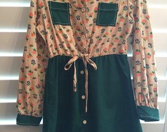 Growing Girl vintage 70's kids / girls dress size 16