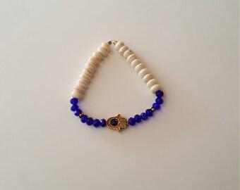 midnight blue Arabian night beaded bracelet