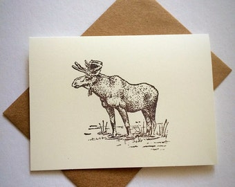 7 moose blank note cards and 7 envelopes . All occasion blank note cards .