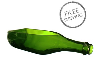 Dark Green Champagne Bottle Bowl