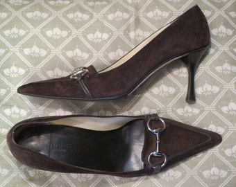 Pumps GUCCI brown suede, size 37.5 Italian