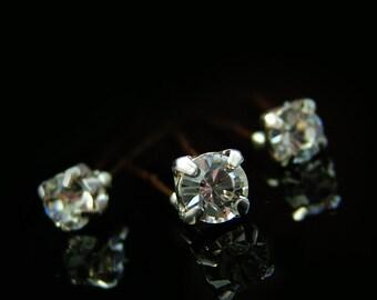 Crystal Diamante Hair Pins, Bridal Diamante Hair Pins, Diamante Wedding Hair Accessories, Crystal Diamante Bridesmaid Hair Accessories