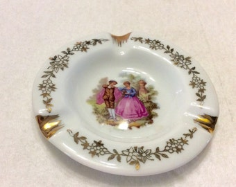 Limoges France courting couple ash tray.