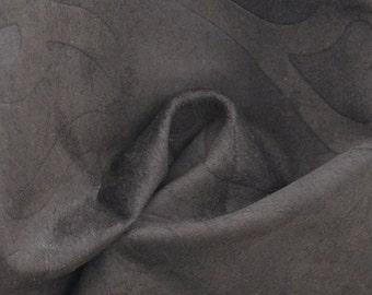 "Medium Brown Floral Lambskin Leather Hide 12"" x 12"" Pre-cut 1 ounce TA-39775 (Sec. 5,Shelf 6,B)"