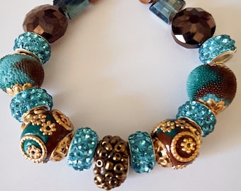 Turquoise and Brown Jesse James Bracelet
