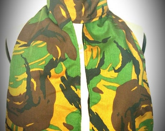 Camouflage Army green Fleece scarf / Wrap