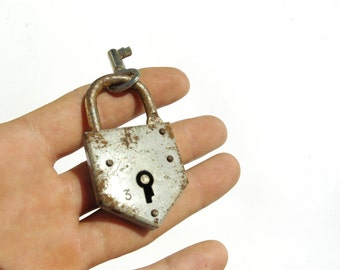 Heart Padlock And Key, Small Antique Padlock, Mini Padlock, Rustic Lock, Lock And Key, Heart Shaped Padlock, Metal Lock, Skeleton Key, Lock