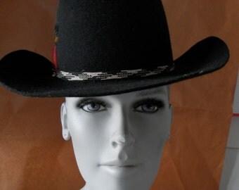 Authentic Canadian Black Cowboy Hat