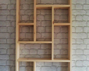 Hand Crafted Nine Compartment Pigeon Hole Shelf Unit