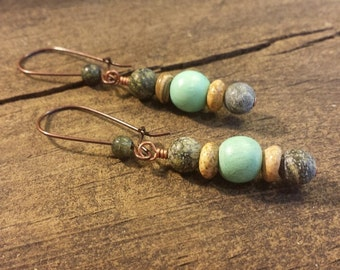 Boho Earrings, Beach Earrings, Drop Earrings, Dangle Earrings
