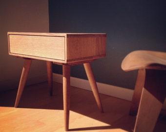 Oak Nightstand - Bedside Table - danish mid century modern - solid oak - dresser -scandinavian - chest of drawers - walnut