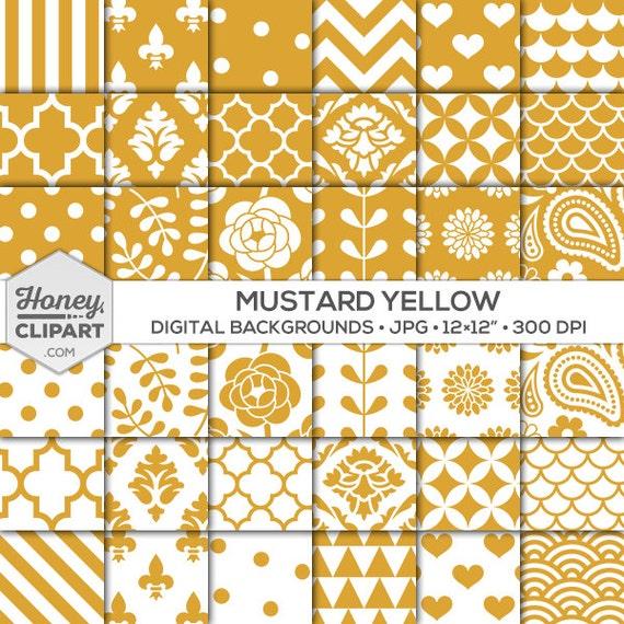 mustard digital paper dark yellow backgrounds printable