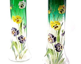 Pair of vases enameled Legras Montjoye thoughts