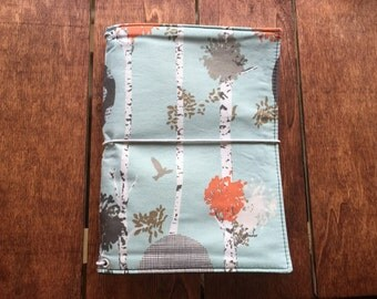 "JADori ""Birds & Bark"" Traveler's Notebook Fabric Fauxdori Dori"