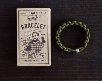 Handmade Paracord Lumberland Bracelet/Armband Mens/Womens Camo Green