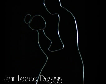 Bride and Groom Silhouette Wire Topper / pic ends