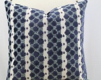 Soskin sapphire by Duralee medium weight  velvet pillow cover,accent pillow,throw pillow,decorative pillow.