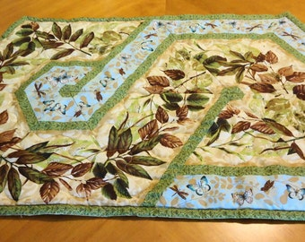 Butterflies and Leaves Table Runner
