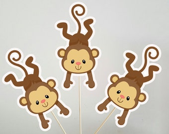 Monkey Centerpieces, Monkey Decorations, Monkey Sticks, Monkey Centerpiece
