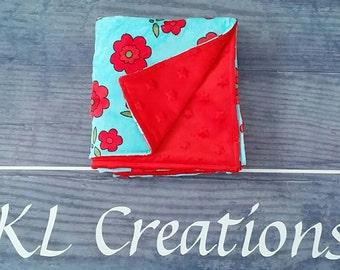 Floral/red - baby / toddler blanket