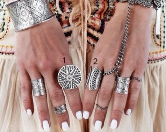 Boho ring set/ Boho rings / Statement rings