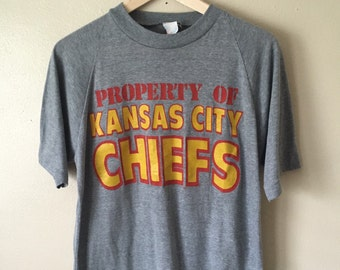 Vintage Kansas City Chiefs Shirt Raglan Sleeves sz Large