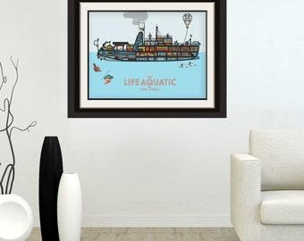 The Life Aquatic The Belafonte Wes Anderson Poster Print Zissou