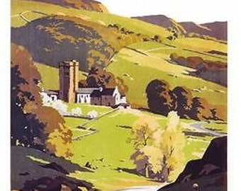 1960's British Railways Yorkshire Dales Poster A3 Print
