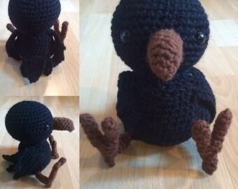 Crochet Baby Raven Plush