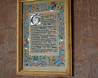 Gift, reproduction, Art of marriage, painting, calligraphy, illumination, Gothic