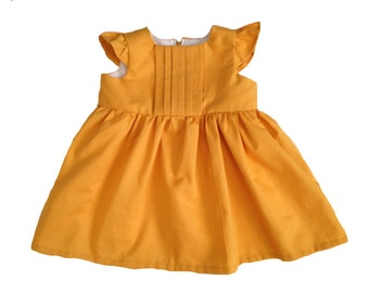 Baby Girl Dresses - Mustard Baby Dress - Mustard Yellow Baby Girl Dress - Dress for Baby Girl - Baby Party Dresses