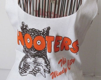 SALE Hooters Shirt Blouse Hooter Girls Authentic Designer Clothing Hooters Clothing Tacky Yet Unrefined Hooters Chicago The Windy City