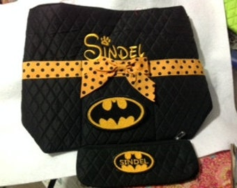 Batman Personalized Tote/Diaper Bag