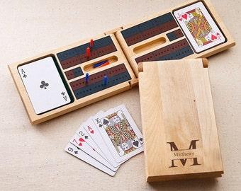 Personalized cribbage boards wood monogrammed customized monogram engraved custom games board card game design set RR11743