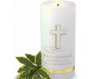 Baptismal Candle Clipart