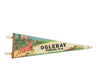 Oglebay, Wheeling West Virginia Felt Pennant