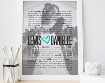 Framed First Anniversary Gift Wedding Vows Print - Paper Anniversary